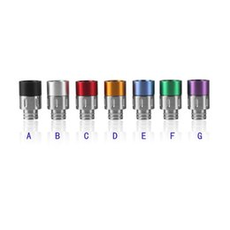 Newest Drip Tip 510 Wide Bore Drip Tips SS with Aluminum Drip Tip for 510 EGO Atomizer Kanger Protank DCT E Cigarettes Cartomizer