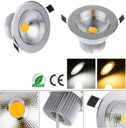 CREE COB LED Downlight Dimmable 3W 5W 7W 9W 110V 220V Silver Aluminum LED Ceiling Spot Light 110LM W With 3 Years Warranty