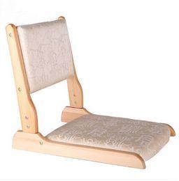 Wholesale Floor Japanese Zaisu Chair Folding Legs Natural Finish Tatami Legles Chair For Living Room Asian Traditional Furniture Chair