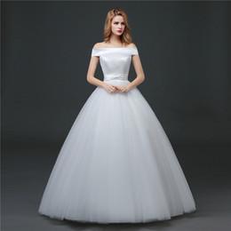 Shanghai Story Off Shoulder Satin Wedding Gown For Bridal bandage Dress 2017