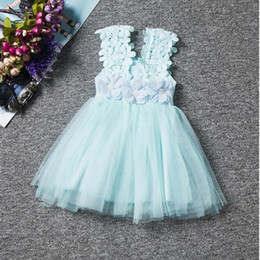 lace Baby dress ,Princess Aqua Party dress ,Lace baby girls tutu dress ,Lace tulle baby clothes