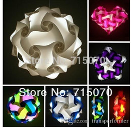 Wholesale iq puzzle lamp iq jigsaw lights Medium size per colors for choice