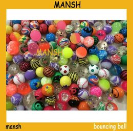 Wholesale 27mm mixed rubber bouncing ball with high bouncy good quality toy balls skip ball
