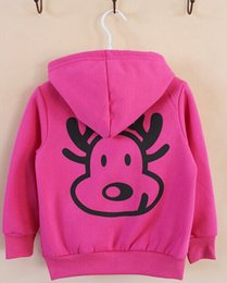 Wholesale new autumn leisure children s clothing baby deer long sleeve add wool fleece coat boys and girls T height cm