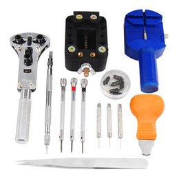 Wholesale 13 piece watch repair tool set includes basic equipment for the clock or watch repair in bag