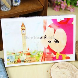 Wholesale 30pc X93mm single page poster postcard A Raccoon Love animated cartoon post card Birthday card greeting card gift card order lt no track