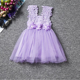 Dresses for kids ,Purple Girls dress Baby Girls Party dress ,Lace Tulle Baby girls dress with flower