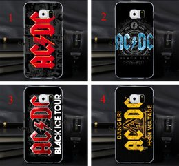 Wholesale 4pcs AC DC LOGO Hard Skin Transparent stealth Case Cover for Samsung Galaxy s3 s4 s5 s6 s6edge