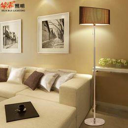 Wholesale Minimalist camber light floor lamp fixtures chrome standing lamps wrought iron art indoor lightings reading lighting for bedroom v v