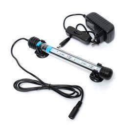 Aquarium Fish Tank 18cm 6 LED 5050 SMD Blue White Bar Light Underwater Submersible Waterproof Clip Lamp Decoration Lighting