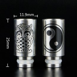 Wholesale Best Drip tips High Carving Stainless steel wide Bore Drip Tip Fit Fogger Kayfun V4 Aspire Atlantis Subtank Atomizer Dark Horse DHL free