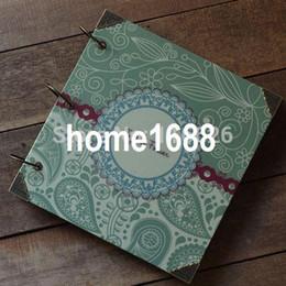 Handmade Classical diy photo album paperboard waterproof cover w kraft paper sheet  PP bag packing in gift box