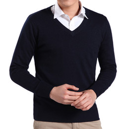 2015 Cashmere mens sweaters slim fit v neck sweater Men Winter Wool pullover brand sweater men Pull homme Free Gift