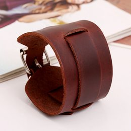 Wholesale Genuine leather vintage jewelry manufacturers selling bracelet men s wristband
