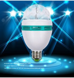 Promotion Magic Ball RGB Full Color 3W E27 LED Bulb Crystal Auto Rotating Stage Effect DJ Light Bulb Mini laser Stage Light