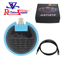 Wholesale Roundness Design Alloy Foot Switch Pedal Tattoo Machine Gun Power Supply Tattoo FootSwitch Low Price
