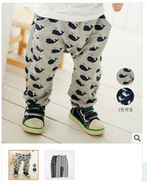 Wholesale 2014 new Children s Boys and Girls Casual Pants Harem Pants express Whale Full Printed Child