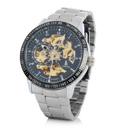 Wholesale Luxury Mechanical Watch Silver Gold Machine For Steel Strap Black Heart Dial Stainless Steel Automatic Chain Mechanical Anemometer