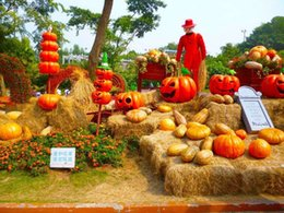 Wholesale 300cm cm x20ft photography backdrops halloween Pumpkin scarecrow pumpkins backgrounds for photo studio ZJ