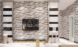 Chinese style dining room 3D wallpaper stone brick design background wall vinyl wallpaper modern for living room wallcovering