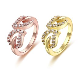 Wholesale YIYUAN K Gold Zircon Care Deeply Elegant And Stylish Lady Yellow Gold ring Rose Gold DHL