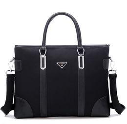 Wholesale mens briefcase mens leather bag man bag oxford office handbag laptop messenger bag designer computer bag brand name handbag korean bag