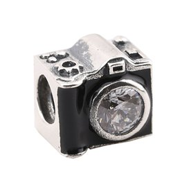 Sterling Silver Charms 925 Ale Enameled Camera European Charms for Pandora Bracelets DIY Beads Accessories Free Shipping