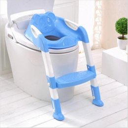Wholesale Baby Potty Seat With Ladder Children Toilet Seat Cover Kids Toilet Folding infant potty chair Training Portable pinico troninho