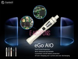 Wholesale Original Joyetech eGo AIO Kit All in one style Ego One Aio With ml Capacity mAh Battery Anti leaking e Liquid illumination LED Light