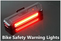Comet USB Rechargeable Head  Tail Light COB High Brightness Red LED 100LM Cycling Bicycle Front Rear Bike Safety Warning Lights