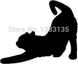 Wholesale Car Stickers Cat (stretching) Car Window Sticker Vinyl Decal Funny Jdm For Laptop And All The Smooth Surface