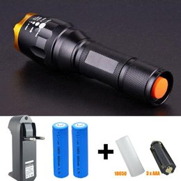3800 Lumens Zoomable LED Flashlight Torch Waterproof Zoom CREE LB-XL T6 LED Flash Light + 2*18650 Battery & Charger