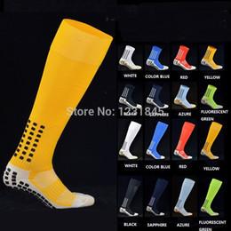 Wholesale Soccer Socks Tocksox Anti Slip Mid calf Cotton Football Sock Grid Style Team Sports Socks