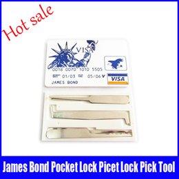 Crédit rapide à vendre-Hot Sale James Bond Credit Card Verrouiller pick Set Outils Serrurier Verrouiller Choisissez Mini Outils bateau rapide