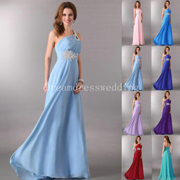 Wholesale Design Hot Sale Long Evening Dresses Chiffon Scalloped Tulle One Shoulder Floor Length Women s Party Gowns Special Occasion Prom Gowns