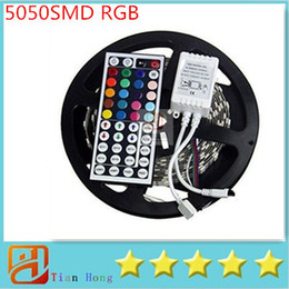 2016 NEW 5M Flexible RGB LED Light Strip 5050 SMD 5M 300 LEDs WATERPROOF IR REMOTE Controller+12V 5A power supply