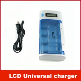 Wholesale GODP Digital LCD Universal charger for Rechargeable Battery AAA AA C D V Size