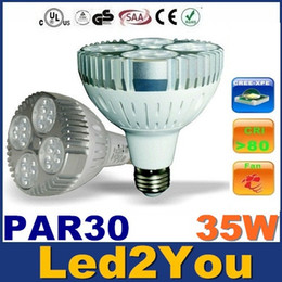 Wholesale CREE PAR30 Led Lights High Power W E27 Led Bulbs Lights With Cooling Fan AC V Warranty Years
