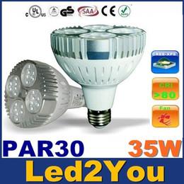 Cree llevó la garantía en Línea-El CREE PAR30 llevó las luces El poder más elevado 35W E27 llevó las luces de los bulbos con la CA 110-240V + la garantía del ventilador de refrigeración 3 años