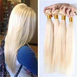 Wholesale 8-30inch bleached blonde color #613 russian brazilian peruvian indian malaysian virgin hair straight human hair extensions 3pcs