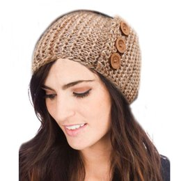 Fashion Women Wool Crochet Headbands Lady Girl Bohemian Head Wraps Hair Accessories Europe and America Autumn Winter Head Wear 6 Colors