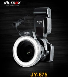 Wholesale Viltrox JY Beads On camera Macro Ring LED Flash Light For Canon Nikon with Adapter Rings for Sony DSLR Camera