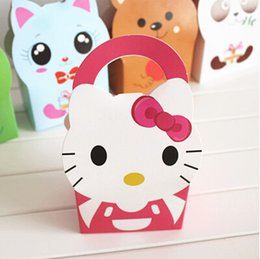Free shipping cute animal decoration cake box dessert candy box chocolate cookie packing box party gift boxes kids favors supply