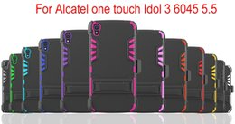New Arrival All in One Sper Combo Heavy Duty Shockproof Cell Phone Case With Clip For Alcatel one touch Ido1 3 6045