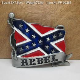 Wholesale 3D REBEL FLAGS Belt Buckle Pride Rebel Flag confederate flag belt buckle southern battle flag belt buckle