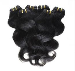 Cheap Hair! 20bundles lot 100% Brazilian Virgin Hair Human Hair Weave Wavy Body Wave Natural Color Hair Extensions Wholesale Free Shipping