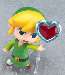 Wholesale The Legend of Zelda Link Nendoroid Game Cool Fun Action Figure Q Ver Zelda Link Collectible Model Toy Dolls gifts for kids