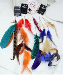 Wholesale - 36pcs lot Free Shipping feather products long feather hair clip Hair extension wedding feathers hair