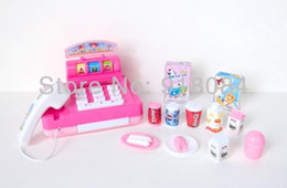 Wholesale-High Quality Mini Cute Simulation Electric Toys With Sound And Light Cash Register Household Set Toys for Girls
