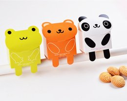 Wholesale cute bear cookie package cute panda frog candy box wedding candy holders cute cartoon cookie box party box